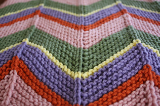 Chevron Afghan Pattern Knit : Madalyn Rae Baby Afghan and a Free Pattern Little Sweet Knittings