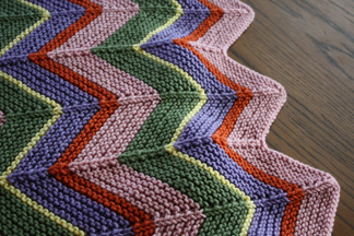 Chevron Afghan Pattern Knit : AFGHAN BABY CHEVRON PATTERNS Free Baby Patterns